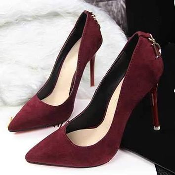 Red Bottom / sole Pointed Toe High Heels Women Pumps Shoes