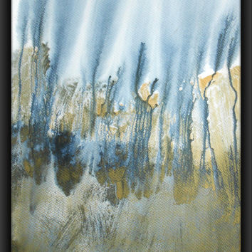 """A3 Modern Abstract Original Acrylic Wash Painting 11.7x16.5 """" Untitled 126"""""""