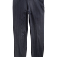 Tailored trousers - Dark blue/Pinstriped - Ladies | H&M