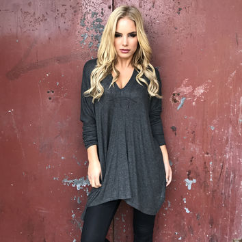 Lounge Around Sweater Tunic Top
