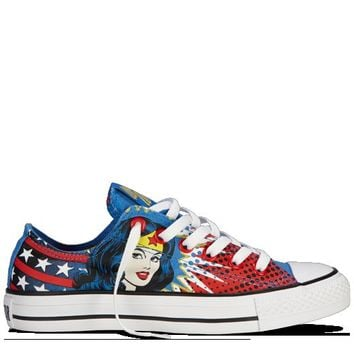 Converse - All Star DC Comics- Wonder Woman - Low - Blue/Red