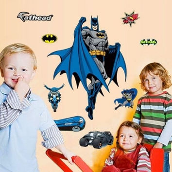 Amazing Large Batman Wall Stickers Vinyl Art Home Kids Bedroom Decals PVC New (Size: 60cm by 90cm) = 1927899332
