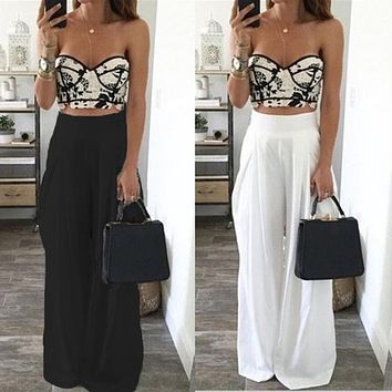 High Waist Loose Wide Leg Harem Pants