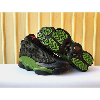[ Free  Shipping ]Air Jordan 13 Retro 'Green Olives'   Basketball Sneaker