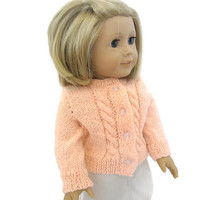 American Girl Doll Sweater Knit Peach