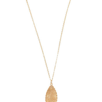 Champagne Druzy Stone Necklace