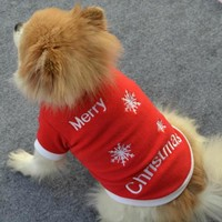 Merry Christmas Dog Clothes Winter Xmas Pet Dog Clothing Clothes Dog Coat Jacket Pet Outfit Costume