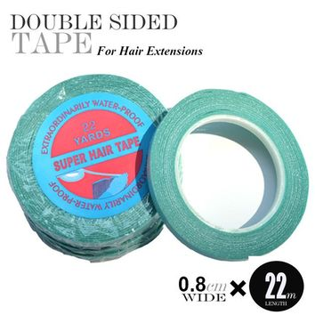 1 pc 0.8cm*22Yards super hair tape double-sided adhesive tape for hair extension/lace wig/toupee