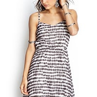 FOREVER 21 Blurred Lines Cami Dress Cream/Charcoal