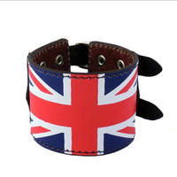 Jewelry Wide Genuine Leather Men's Bangle Cuff Bracelet, Punk Rock Style for Men Women 2587S