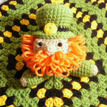 Leprechaun Lovey PDF Crochet Pattern INSTANT DOWNLOAD