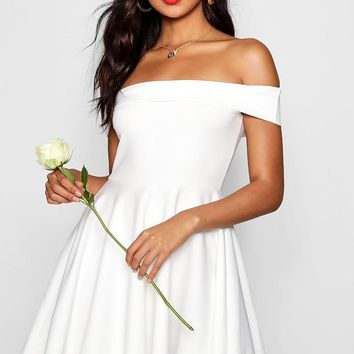 Off The Shoulder Skater Dress | Boohoo