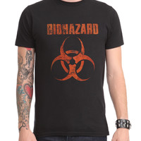 Biohazard Distressed Logo T-Shirt