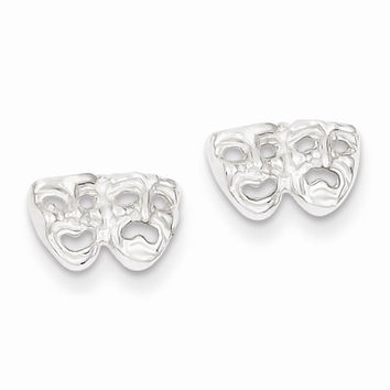 Sterling Silver Comedy/tragedy Mini Earrings
