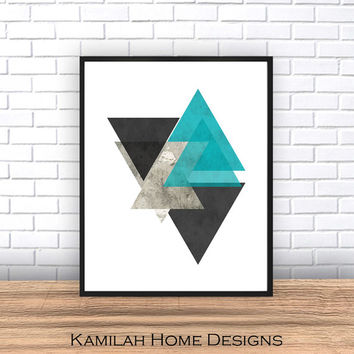 Wall Art Prints Abstract Prints Abstract Poster Geometric Wall Art.