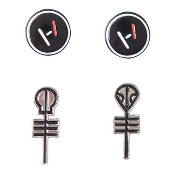 Twenty One Pilots Symbols Earring Set
