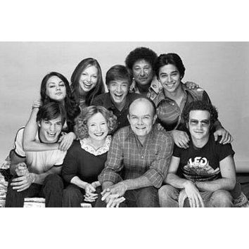 That 70S Show poster Metal Sign Wall Art 8in x 12in Black and White