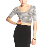 CLOTHING / TOPS / Striped Study Crop Top