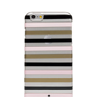 Kate Spade Watch Hill Stripe Clear Iphone 6 Plus Case Gold/Pastry Pink