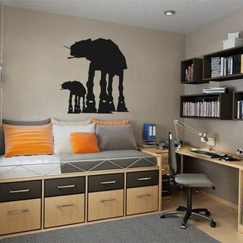 ik2209 Wall Decal Sticker At-At Walkers silhouettes Star Wars children's room