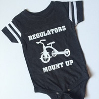Regulators Mount Up - Jersey Onesuit -  Body Suit - Onesuit - Ruffles with Love - Baby Clothing - RWL Kids