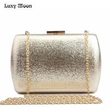 LUXY MOON Bling Evening Clutch Bag Gold Silver Day Clutch Purse Fashion women wedding Bag party dating handbag night club bag