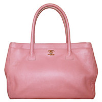 Chanel Vintage Pink Caviar Leather Tote - circa 2005