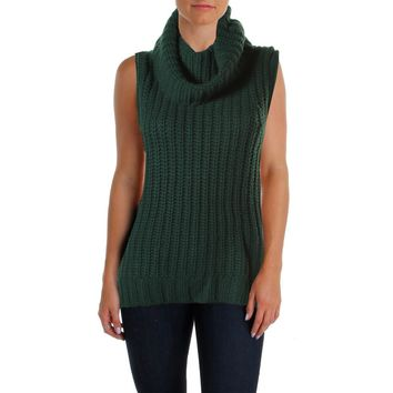 The Lane Womens Wool Blend Sleeveless Tunic Sweater