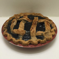 Primitive Blueberry Pie Lattice Crust Scented Farmhouse Fake Food