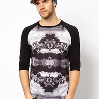ASOS 3/4 Sleeve T-Shirt With Renaissance Print