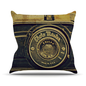 "Robin Dickinson ""Discarded Treasure"" Vintage Camera Outdoor Throw Pillow"