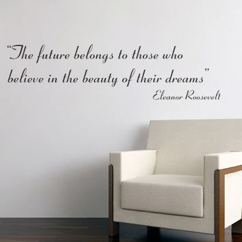 Quote wall decal - The future belongs Quote - Wall Decals , Home WallArt Decals