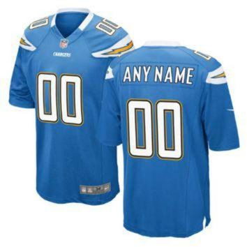 DCCKU3N Nike Los Angeles Chargers Customized Electric Blue Stitched Elite Men's NFL Jersey