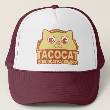 Tacocat Backwards II Trucker Hat