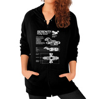 SERENITY FIREFLY Zip Hoodie (on woman)
