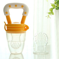 Feeding Nipple Dummy Fruits Nibbler Soother Bottle Clip Chain Funny Pacifiers Silcone Baby Pacifier Fresh Food Feeder