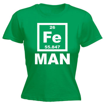 123t USA Women's Iron FE Periodic Elements Funny T-Shirt
