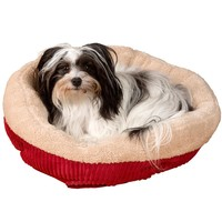 "Evelots Soft Self Heating Pet Bed, Cats & Dogs, Soft & Cozy, 20""D by 6""H, Red"