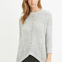 Contemporary Marled Knit Sweater