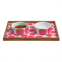 Lisa Argyropoulos Strawberry Sweet In Pink Pet Bowl and Tray