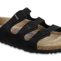 Florida Soft Footbed Black Nubuck Sandals | Birkenstock USA Official Site