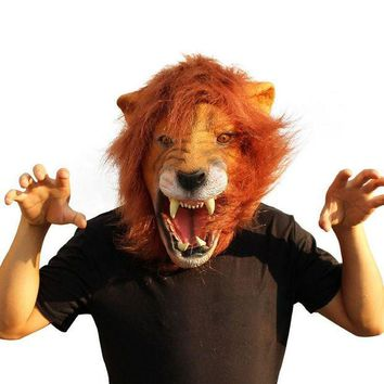 ESBONHS 2016 Halloween Props Adult Angry Lion Head Masks Animal Full Celebrity Party Fancy Classic Cosplay Latex Lion Mask