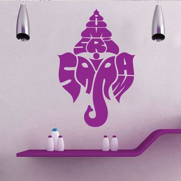High Quality Ganesha Wall Decal Hindu God Unman Removable Wall Stickers Elephant Window Decal Deity Family Decor Interior SYY671