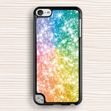 beautiful stars wallpaper ipod case,glitter ipod 4 case,color stars ipod 5 case,personalized ipod touch case