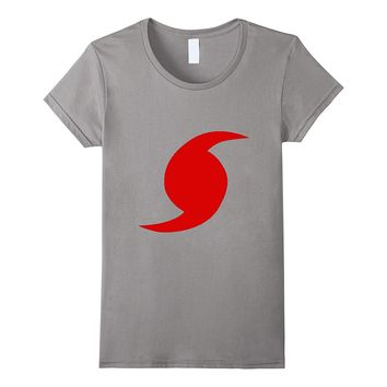 Red Hurricane Symbol T-Shirt Storm Warning Tornado Rain Wind