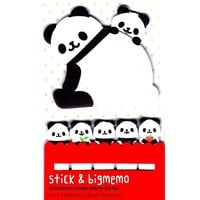 Large Panda Bear Shaped Animal Themed Memo Post-it Index Sticky Pad Bookmark Tabs