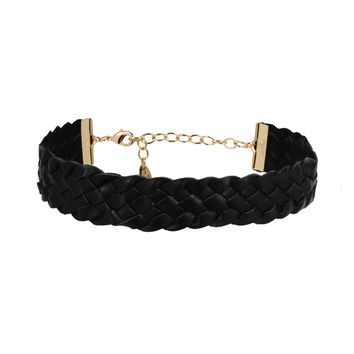 Keeping it Simple Braided Choker in Black
