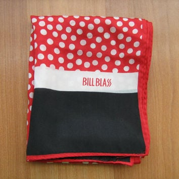 Bill Blass Classics Silk Scarf vintage 1970s made in Japan