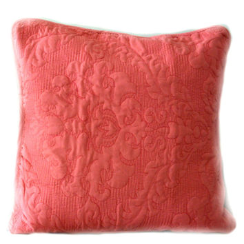 Tache 2 Piece Light Pink Luxembourg Coral Cushion Covers