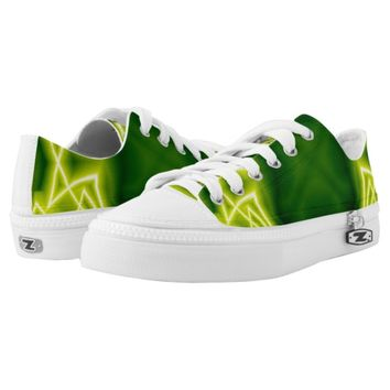 Green Boxes Printed Shoes